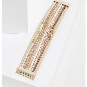 Gold - Tone Magnetic Bracelet